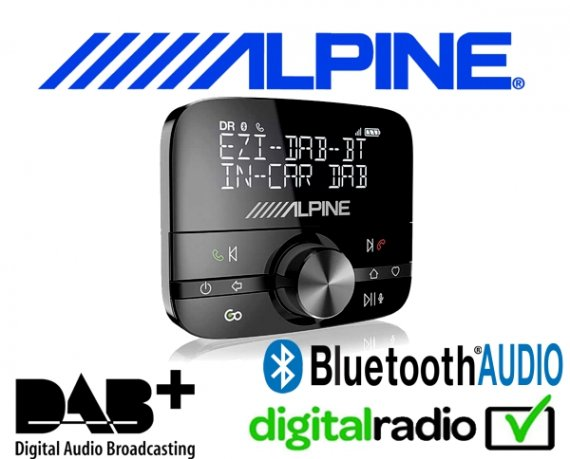 Alpine DAB DAB+ Bluetooth Nachrüstung universell für ALLE Autoradios EZi-DAB-GO