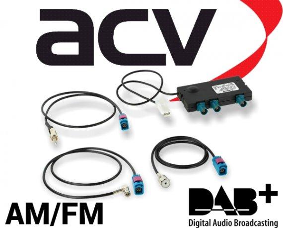 DAB DAB+ FM AM aktive Antennenweiche für vorhandene UKW Antenne Fakra ISO