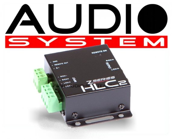 Audio System Profi High-Low Adapter 2 Kanal HLC2