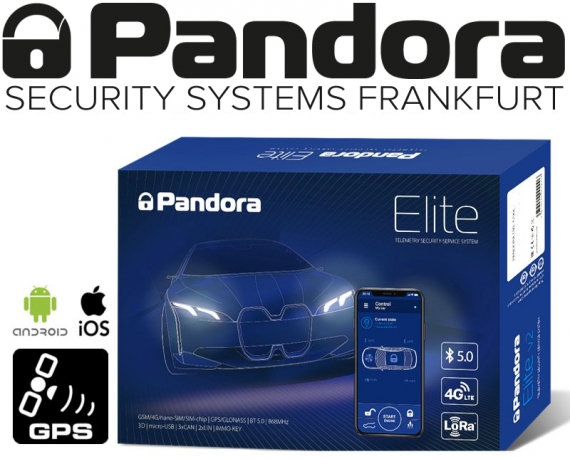 Pandora Autoalarmanlage Elite V2 mit Live-Ortung Handyalarm App Bluetooth