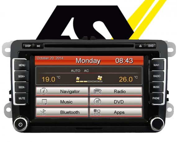 ESX Autoradio Navigationsgerät VW Seat Skoda