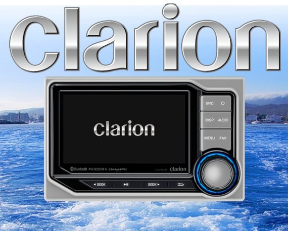 Clarion Bootradio CMS5 Marine 4.3 mit LCD Display (wasserfest)