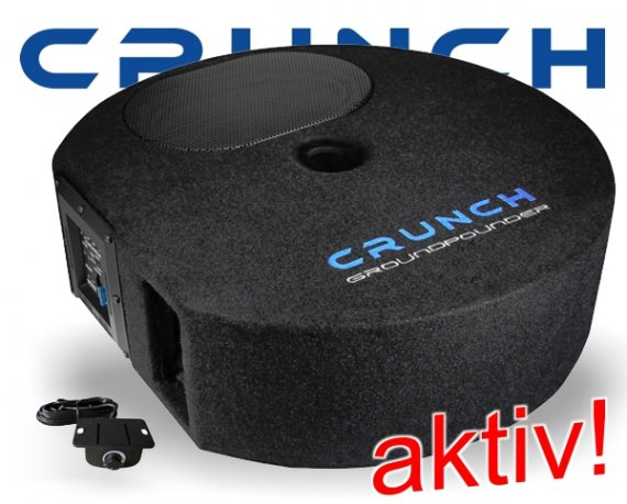 Crunch Aktiv Reserverad Subwoofer Bass Box GP690 300W