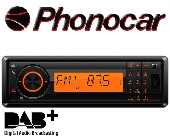Phonocar Retro Autoradio DAB+ USB Bluetooth SD Oldtimer Youngtimer Auto LKW