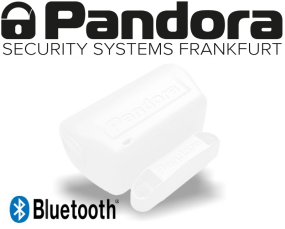 Pandora Bluetooth Sensor 3D Erschütterungssensor Neigungssensor Türkontakt DMS-100 BT weiß