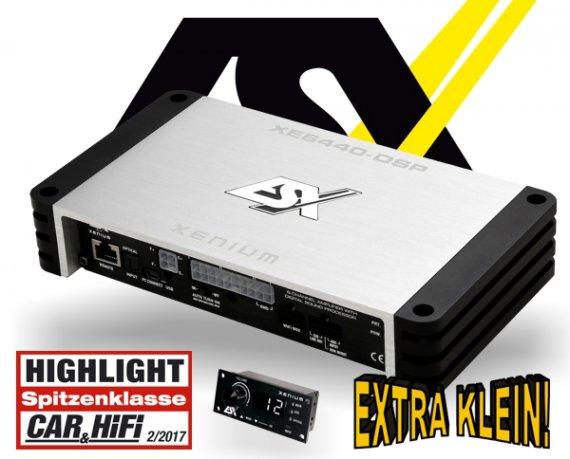 ESX Auto Plug&Play DSP Verstärker Endstufe XE6440-DSP 6-Kanal 4x 120W + 2x 200W od. 1x 400W