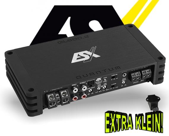 ESX Quantum Verstärker Endstufe QL600.2 2x 300W LKW 24V