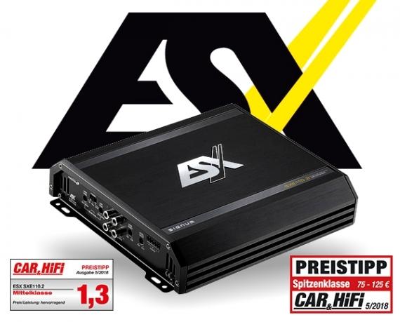 ESX Auto Verstärker Endstufe SXE110.2 2x 220W