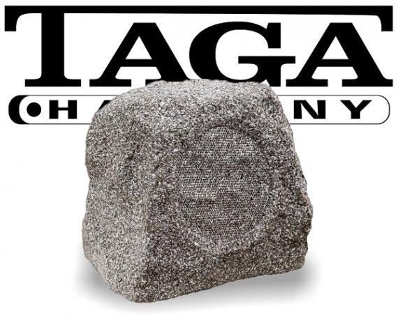 Taga Gartenlautsprecher Outdoor Stein Optik TRS-10 granit-weiß 60W