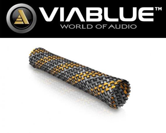 ViaBlue Geflechtschlauch Cable Sleeve Kabelschutzschlauch Orange Big Meterware