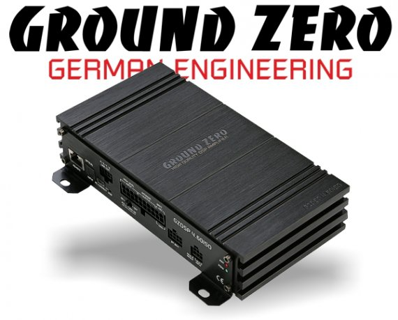 Ground Zero DSP Verstärker Endstufe GZDSP-4.60ISO 4x 40W