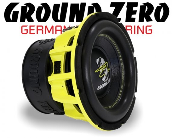 Ground Zero Subwoofer Bass GZHW 25SPL 25cm 2500W