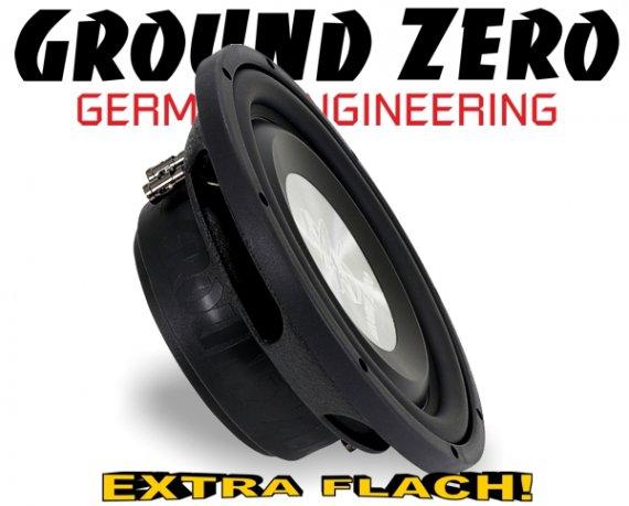Ground Zero Subwoofer Bass extra flach GZTW-10F 25cm 600W