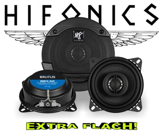 Hifonics Brutus Auto Lautsprecher extra flach BRX42 120W
