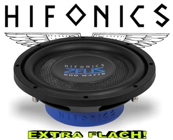 Hifonics Zeus Flach Subwoofer Bass Lautsprecher ZST10D4 4+4ohm
