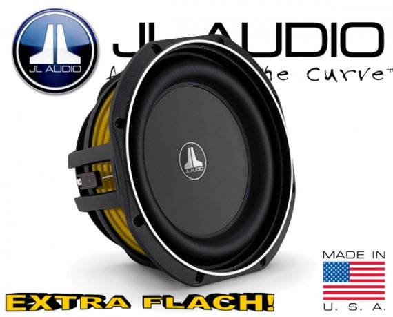 JL Audio Auto Subwoofer flach 300W 2ohm 10TW1-2