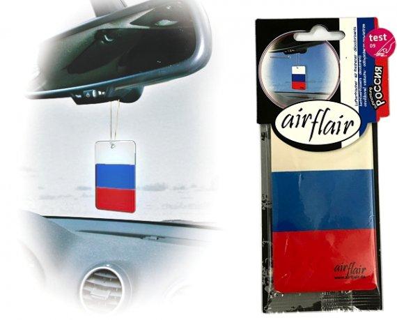 Lufterfrischer Duftbaum Auto Flagge Russland kirsch