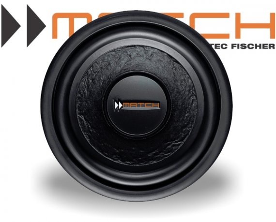 Match Subwoofer Auto Bass 200mm 200W PP 8W-Q