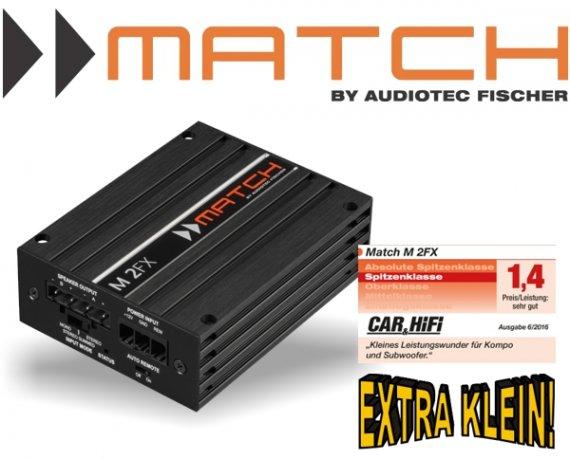 Match 2-Kanal Plug&Play Mikro Verstärker Endstufe M 2FX 2x 220W