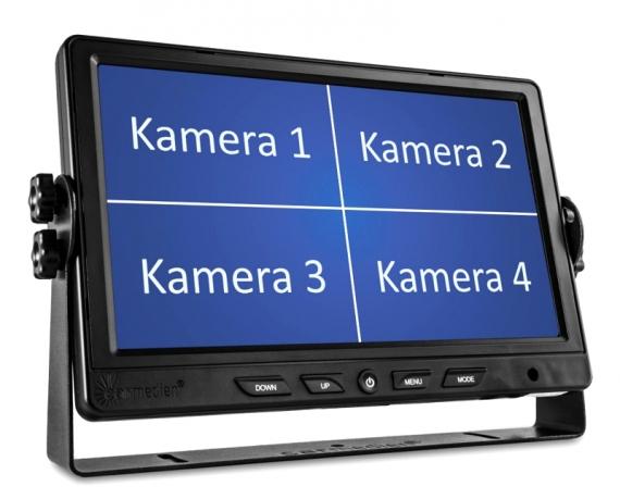 Quad 4-fach Monitor zur gleichzeitigen Darstellung von bis zu 4 Kameras