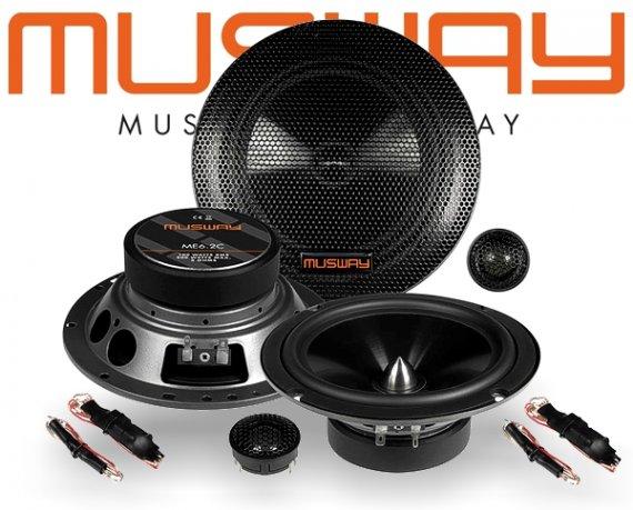 Musway 16,5cm Auto Lautsprecher System ME6.2C 200W