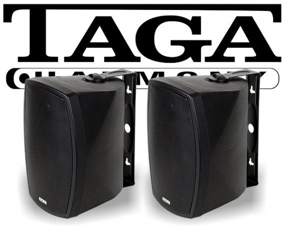Taga Indoor-/Outdoor Wand-Lautsprecher TOS-600 V.2 schwarz 180W 2 Stück