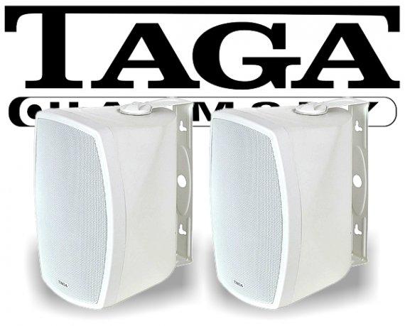 Taga Indoor-/Outdoor Wand-Lautsprecher TOS-600 V.2 weiß 180W 2 Stück