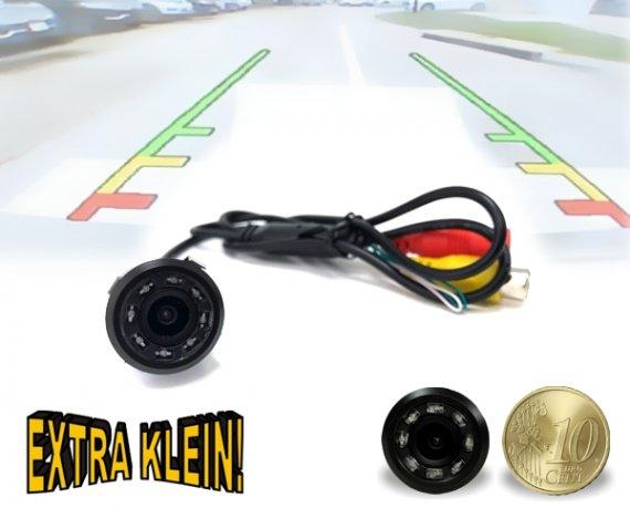 Rückfahrkamera mit Nachtsicht-Funktion Mini Kamera mit Distanzlinien 90°