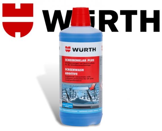 Würth Scheibenklar Plus Fensterreiniger Scheibenwischanlage mit Frostschutz 0892332840 1 Liter