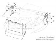 Radioblende Doppel-DIN Hyundai Sante Fe schwarz Typ25
