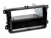 Radioblende Doppel-DIN mit Ablagefach Seat Skoda VW Klavierlack
