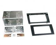 Radioblende Einbaurahmen Doppel-DIN Komplettset für Audi Seat schwarz