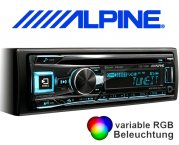 Alpine Autoradio CDE-193BT mit CD/USB/iPhone/iPod Bluetooth Facebook