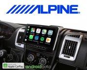 Alpine Autoradio iLX-F903DU  für Fiat Ducato 3, Citroën Jumper 2 und Peugeot Boxer