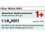 Brax High End Car Hifi Endstufe Matrix MX4 silbern