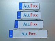 Kennzeichenhalter Alufixx 2.0 PREMIUM unsichtbarer Nummernschildhalter silber matt eloxiert