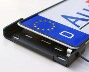 Kennzeichenhalter Alufixx 2.0 BASIC unsichtbarer Nummernschildhalter schwarz matt eloxiert