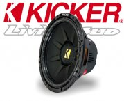 Kicker Subwoofer Bass CompD CWD124 2x 4ohm 600W 30cm
