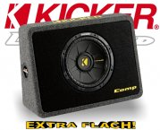 Kicker Subwoofer Bassbox TCompS102 TCWS102 2ohm 600W 25cm
