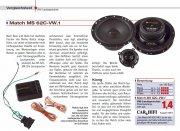 Match Auto Lautsprecher für VW 165mm 80W MS62C-VW
