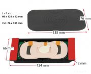 Inbay Qi Universal Ladestation Ladegerät Induktions-Ladegeraet 3 Spulen Pad