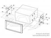 Radioblende Doppel-DIN Subaru Forester Impreza 2007-2013 klavierlack
