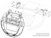 Radioblende Doppel-DIN Komplettset Ford B-MAX silber