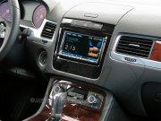 Radioblende Doppel-DIN Komplettset VW Touareg II 2010-2014 Klavierlack