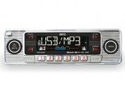 Retro Autoradio USB Bluetooth CD SD für Oldtimer Farbe chrom
