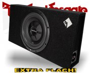 Rockford Fosgate Prime R2 Subwooferbox R2S-1x12 extra flach