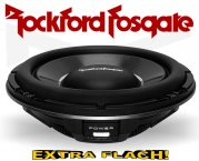 Rockford Fosgate Subwoofer Power T1 T1S1-12 extra flach
