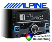 Alpine 2-DIN Autoradio CDE-W296BT mit CD/USB/iPhone/iPod und Bluetooth