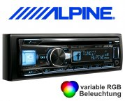 Alpine Autoradio CDE-195BT mit CD/USB/iPhone/iPod Bluetooth Facebook