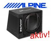 Alpine Subwoofer aktiv Bassbox SWD-355